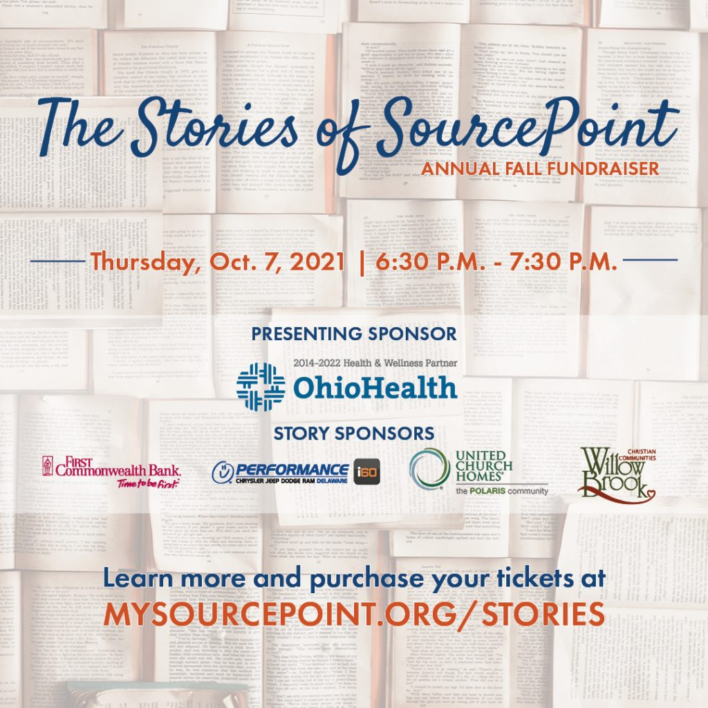 The Stories of SourcePoint Virtual Fundraiser Oct. 7